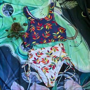 Cupshe Turn Back Tank Bikini Set